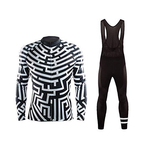 Uglyfrog 2018 JKTSCM14 [Un Set] Moda Maglia Ciclismo Jerseys per Uomo: Lunga Manica Tuta Estivo + Pantaloni Corti di Ciclismo; Abbigliamento Ciclismo