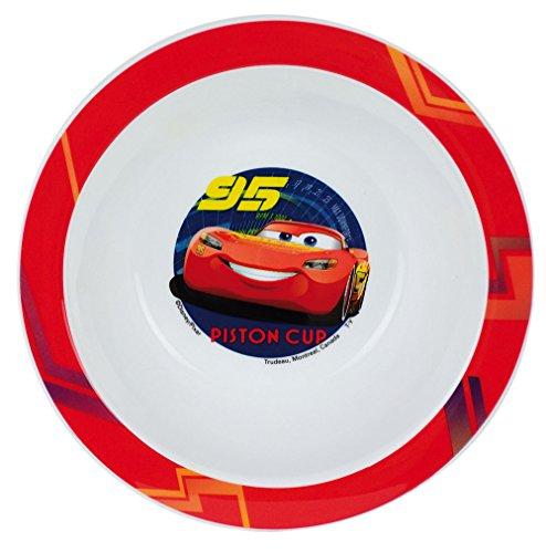 FUN HOUSE 005511 Disney Cars Bol Micro-ondable pour Enfant, Polypropylène, Bleu, 16 x 16 x 4 cm