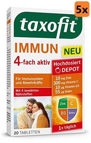 taxofit® Immun 4-fach aktiv Tabletten für Immunsystem und Abwehrkräfte (5x 20 Tabletten)
