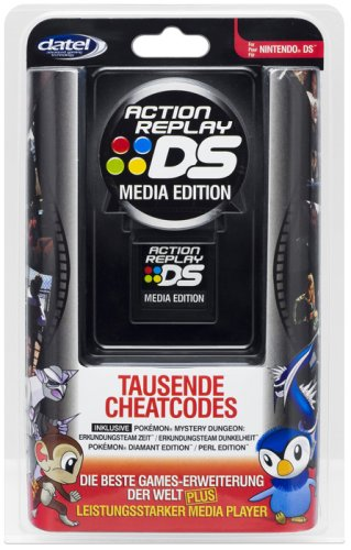 Nintendo DS Lite - Action Replay DS: Media Edition (Schummelmodul)