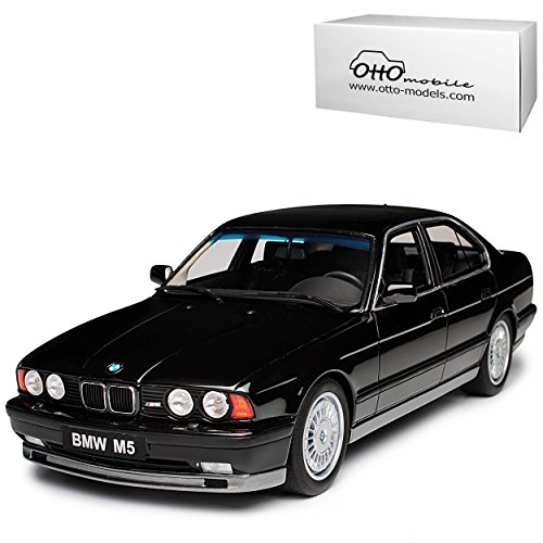 B-M-W 5er E34 M5 Phase 1 Limousine Schwarz 1987-1996 Nr 690 1/18 Otto Mobile Modell Auto