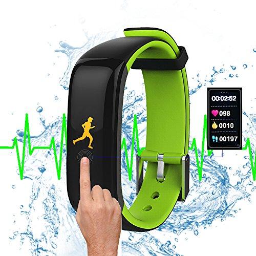 Dax-Hub ROGUCI  I5 Più SmartWatch, cinturino Watch Bluetooth cinturino in Silicone Orologio SmartWatch Sport Plus I5 Bluetooth 4,0 con fotocamera, schermo tattile collegata Alculatrice seguito sonno, timbro numeratore nero