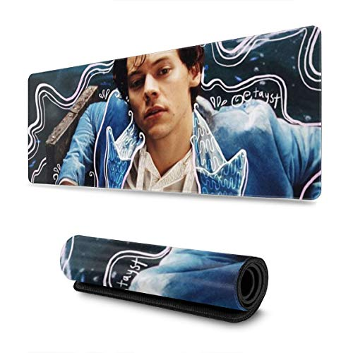 Harry-Styles 3D Printing Large Mouse Pad Extended Mouse Mat/Desk Pad with Non-Slip Rubber Base, Special-Textured Surface for Keyboard and Mouse