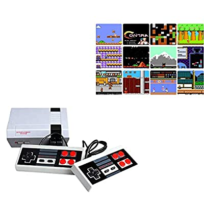 Oriflame 620 Retro Classic Video Game Console AV Output Mini NES Console 620 in 1 Built-in Plug and Play Video Games with 2 Controllers Handheld Games for Kids & Adults from Jackky