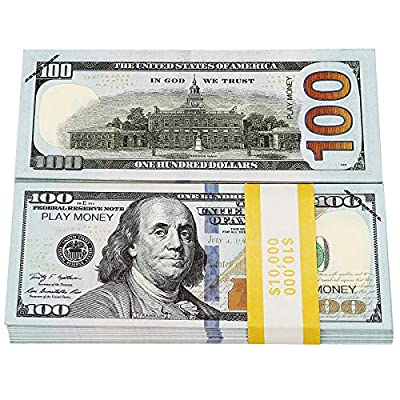 HYKTYLG Prop Money 100 Dollar Bills Realistic Double-Sided Printing Fake Money That Looks Real for Party Decorations and Videos from HYKTYLG