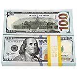 HYKTYLG Prop Money 100 Dollar Bills Realistic Double-Sided Printing Fake Money That Looks Real for Party Decorations and Videos