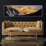 xinyouzhihi Golden Alpine Leinwand Malerei Poster drucken