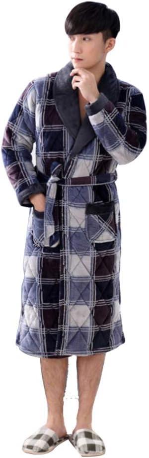 Winter Men's Warm Plus Velvet 未使用 Section Cotton 永遠の定番 Long Thic Robe