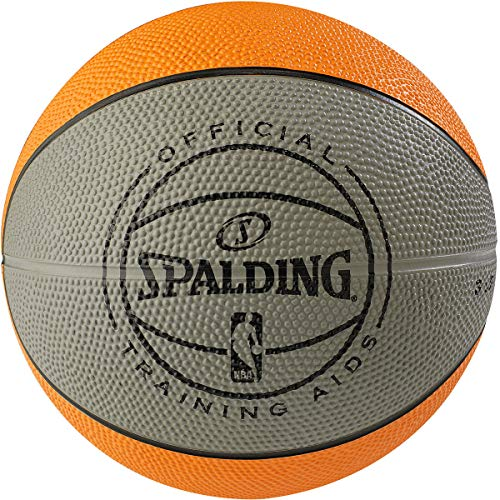 Spalding NBA Weighted Rubber 3 lb. Training Aid Basketball, Orange, Size 3