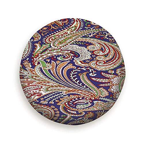SWKLL Cubierta de neumático Hermosas Frutas Mixtas de Verano Impresión Colorida de la Mano Poliéster Rueda de Repuesto Universal Cubierta de neumático Cubiertas de Rueda Remolque RV SUV Camión Camper