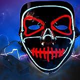 Lictin Masque Lumineux Halloween Lumière Masques d'Émetteurs d'horreur Nouveau Design pour Halloween Cosplay Festival Party Show...