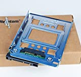 Heretom 2 Stück 2,5 Zoll SSD auf 3,5 Zoll SATA Festplattenrahmen HDD Adapter Caddy Tray Hot-Swap...