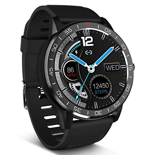 CestMall Smartwatch, Fitness Armband Uhr Voller Touch Screen Fitness Uhr IP68 Wasserdicht Fitness Tracker Sportuhr mit Schrittzähler Pulsuhren Stoppuhr für Damen Herren Smart Watch für iOS Android