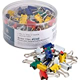 color binder clips - Business Source Mini Binder Clips - Pack of 100 - Assorted Colors (65360)
