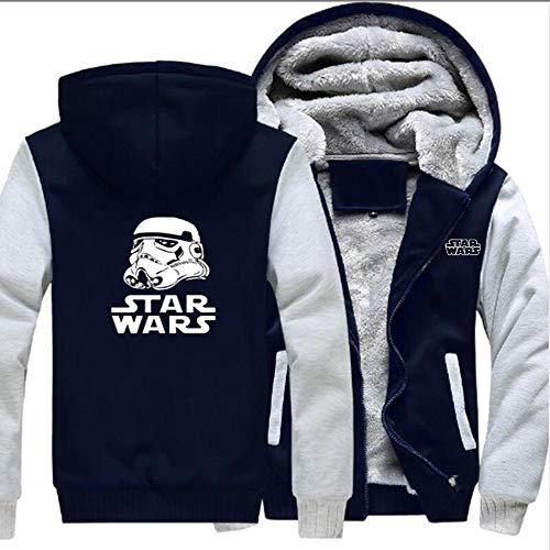Unisexe Chandail à Capuchon Veste Star Wars Imprimé Manteau Chaud Sweat à Capuche à Manches Longues Sport Broder H-M