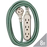 360 Electrical 360418 Habitat Harmony Braided Extension Cord, 8 ft. - Sea Glass