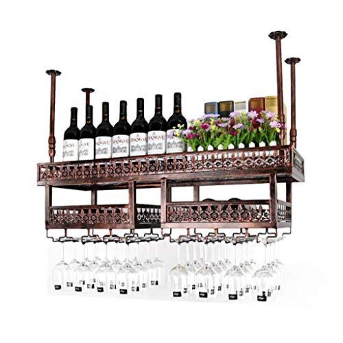JBNJV Botellero de Pared | Portador de Metal | Portavasos | Racks para Copas | Soporte para Copa de Vino Colgante | Soporte para Botella de Vino | Estante de Pared para Almacenamiento