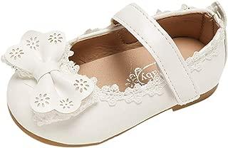 Zapatos para Niñas de Fiesta Princesa Verano Otoño 2019 PAOLIAN Sandalias Tacon de Bebe Niñas Primeros Pasos Bautizo Vestir Boda Comunion Suela Blanda Zapatillas Colegial 19-29 EU