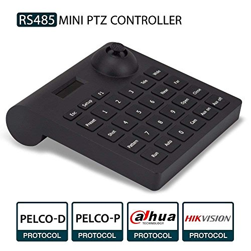 Teclado PTZ, LEFTEK cámara analógica RS485 Controlador Mini Joystick PTZ con Pantalla LCD menú