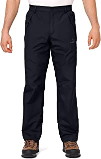 CAMEL CROWN Men's Snow Ski Pants Windproof Waterproof Outdoor Hiking Pants with Zipper Pockets