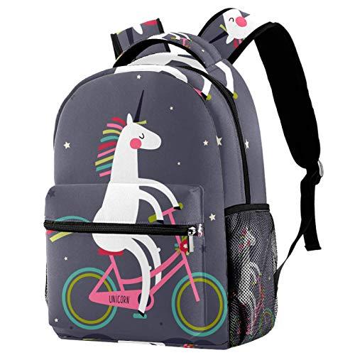 Mochila divertida con diseño de unicornio para montar a caballo, mochila de viaje informal para mujeres, adolescentes, niñas y niños