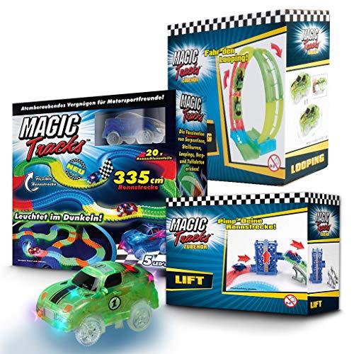 BCdirekt Magic Tracks Starter Set 2 | Autorennbahn für Kinder ab 3 Jahren | Autobahn Kinder | Autorennbahn Leuchtend