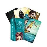 GYNFJK Juego de Cartas para Juegos de Fiesta Cartas de Tarot de Brujas y Libro para Principiantes Cartas de Juego Cartas de Tarot
