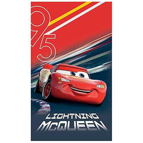 Disney Toalla de Playa Cars, algodón, Rojo, 120 x 70 cm