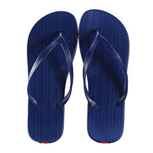 Casual Tongs Unisexe Plage Chaussons Anti-Slip Maison Slipper Marine