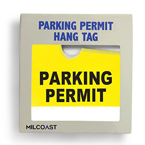 Parking Permit Pass Stock Hang Tags for Employees, Tenants, Students, Businesses, Office, Apartments, 10 Pack (Yellow) Photo #3