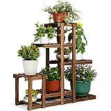 HYNAWIN Wood Plant Stand, Plant Rack, Indoor Outdoor Flower Shelf Holder, Display Storage Shelvesfor Patio Garden Balcony Yard