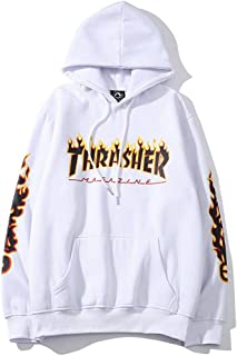 Thrasher Flame Magazine Hoodie Sweater Hoodie Casual Sweatshirt for Men and Women