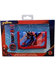 CARTOON GROUP Reloj de pulsera digital + Spiderman Marvel Child Wallet Set - MV15541