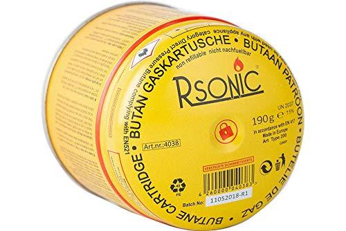 Rsonic Butan Gaskartusche 190g für Campingkocher