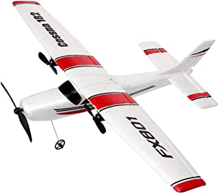 YSTFLY 2.4GHz 2CH DIY EPP RC Plane Outdoor RTF Ready to Fly Remote Control Gliding Aircraft Model,with 2 Extra Batteries(3 Batteries)