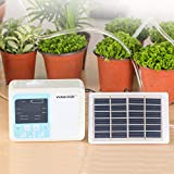 Automatic Solar Watering Plant Timer Automatic Drip Irrigation Dual Pump Atomizing Cooling water Kit Home Garden Plant Self Watering System Solar