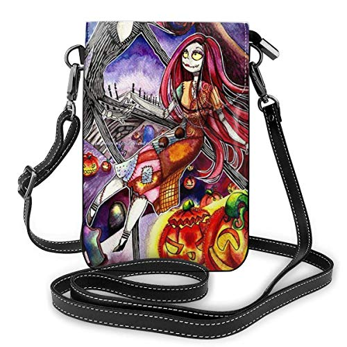 Hdadwy Womens Crossbody Bags - Jack And Sally Halloween Small Cell Phone Purse Wallet With Credit Card Slots