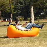 anruo Saco de Dormir reclinable de Aire Inflable al Aire Libre colchoneta de Camping sofá de Playa colchón de Aire colchón reclinable de Camping sofá Hamaca de Aire