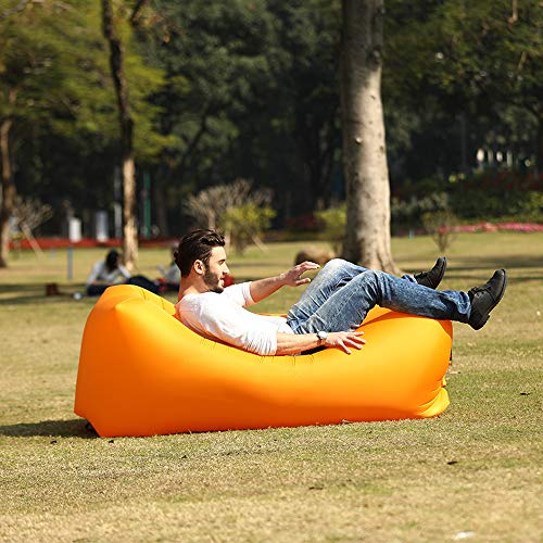 anruo Outdoor aufblasbare Luft Liege Schlafsack Camping Matte Strand Sofa Luftmatratze Camping Liege Luft Hängematte Sofa