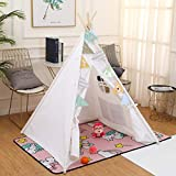 Teepee Tent for Kids Play Tent with Carry Bag Portable Kids Cotton Canvas Teepee Indina Play Tent