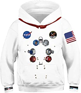 Boys Girls Kids Galaxy Athletic Pullover Hoodies Sweatshirts 4-12Y