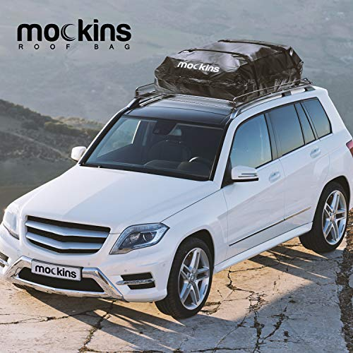 Mockins Waterproof Cargo Roof Bag   The Car Top Carrier Bag is Made from Heavy Duty Abrasion Resistant Vinyl and is 44 Long X 34 Wide X 18 High Giving You 15 Cu.ft.Capacity ... ... ... ... ... ...