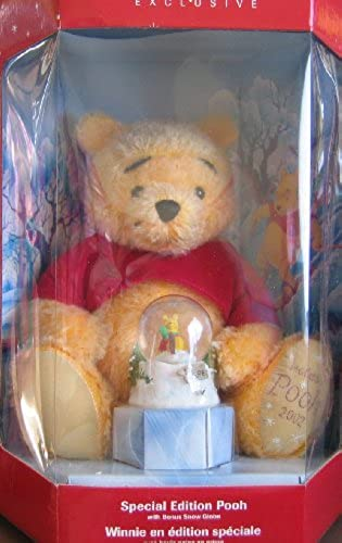 Winnie the Pooh Special Edition Holiday Pooh w Bonus Snow Globe (2002 Disney Store Exclusive) by Disney