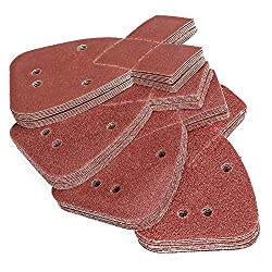 Premium aluminum-oxide grain for optimal sanding capacity,Durable practical, anti-static ,Resin on resin bond for heat resistance. Size: 170mm x 140mm x 95mm , 4 Hole configuration ,Hook and Loop Velcro backing: strong and long lasting, easy to insta...