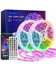 TVLIVE Tiras LED 20M, Luces LED Habitación 5050 RGB, Control Remoto 40 Botones y App, Sincronización Musical, 16 Millones de Colores 28 Modos Decoración TV, Salón Fiestas Dormitorio