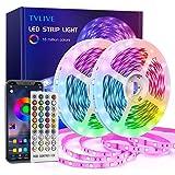Tiras LED 20M, TVLIVE Luces LED Habitación 5050 RGB, Control Remoto 40 Botones y App, Sincronización Musical, 16 Millones de Colores 28 Modos Perfecta Para Decoración TV, Salón Fiestas Dormitorio