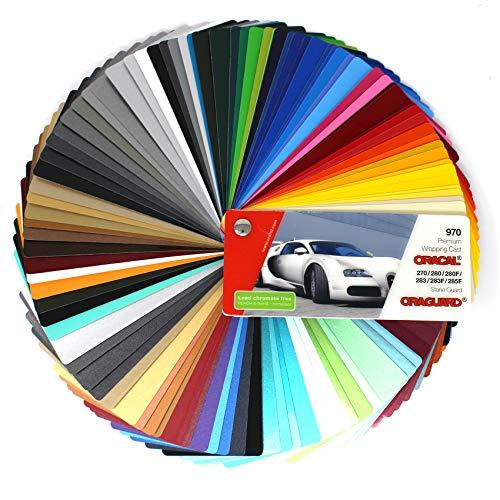 Farbfächer Plotterfolie Oracal Folie 970, 975, 951, 751 C, 651, 631/451 / 7510 Plott Folie Autofolie Werbung (Oracal 970/270/280/283/285)