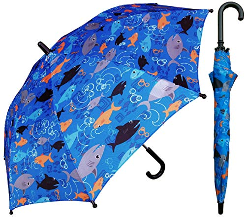 RainStoppers W104 Kid's Multi Shark Print Arc, 32', Multi (W104CHMULSHARK)