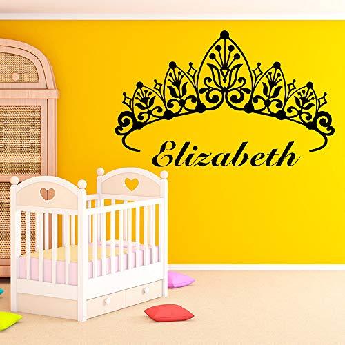 BJWQTY calcomanías de Vinilo con Nombre para habitación Infantil calcomanías de Vinilo para Sala de Estar Mural artístico para Pared del Dormitorio envío Directo