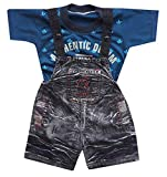 Ideal For: BABY BOYS AND BABY GIRLS Material Type : Denim dungaree cotton shirt For Upto 1 Year Baby Sleeve Type: Half Sleeve; Neck Type: Round Neck If you want you child to look great and also want a unique comfortable dress then your search ends he...